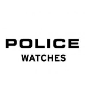 Police Uhrenarmband PL-14385J Leder Schwarz