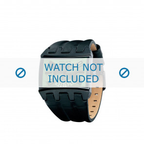 Police Uhrenarmband PL-12079JSB-05A Leder Schwarz 36mm + braunen nähte