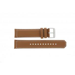 Seiko Uhrenarmband SRPA75K1 / 4R35 01N0 / M0FP71BN0 Leder Cognac 21mm + weiße nähte