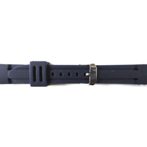 Uhrenarmband Gummi 26mm Blau PVK DS253