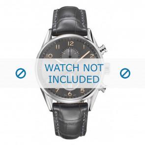 Tag Heuer Uhrenarmband CAR2013-FC6313 Leder Grau + grauen nähte