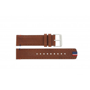 Tommy Hilfiger Uhrenarmband TH-248-1-14-1685 / TH679301739 Leder Braun + braunen nähte