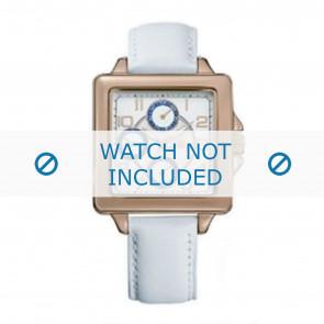 Tommy Hilfiger Uhrenarmband TH-65-3-34-0756 / TH1780824 Leder Weiss + weiße nähte