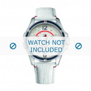 Tommy Hilfiger Uhrenarmband TH-78-3-18-0793 / TH1780861 Leder Weiss + weiße nähte