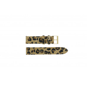Guess Uhrenarmband W16574L1 Leder Leopard 20mm