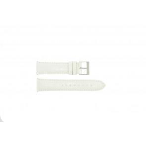 Guess Uhrenarmband W85053G2 / W10558L1 Leder Weiß 22mm