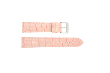 Echt Leder Uhrenarmband kroko rosa 22mm PVK-285