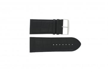 Büffelkalbsleder Uhrenarmband schwarz 24mm PVK-305