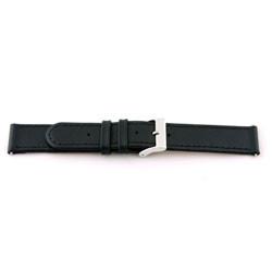 Uhrenarmband Universal C100 Leder Schwarz 12mm
