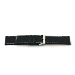 Uhrenarmband Universal H110 Leder Schwarz 22mm