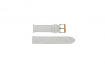 Uhrenarmband Guess W17516L1 Leder Weiss 20mm