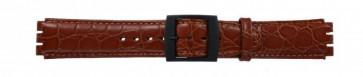 Uhrenarmband Swatch SC10.03 Leder Braun 17mm
