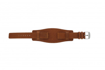 Uhrenarmband WoW B0222 Leder Cognac 18mm