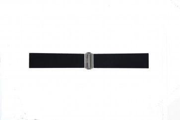 Uhrenarmband Davis BB0881 Kautschuk Schwarz 22mm