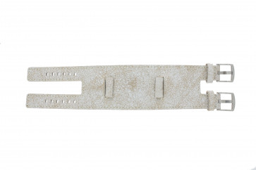 EXC Uhrenarmband K6354264 Leder Weiß 24mm