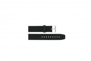 Uhrenarmband Universal PU102 Kunststoff Schwarz 20mm