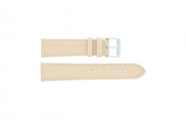 Echtes Leder Uhrenarmband ocker 20mm 283