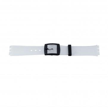 Kunststoff Uhrenarmband jelly skin Swatch 17mm PVK-51