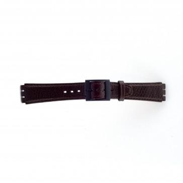 Uhrenarmband Swatch SC04.02 Leder Braun 17mm
