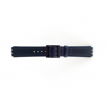 Uhrenarmband Swatch SC11.05 Leder Blau 17mm