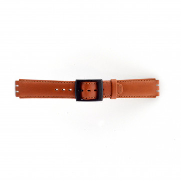 Uhrenarmband Swatch SC11.03 Leder Braun 17mm