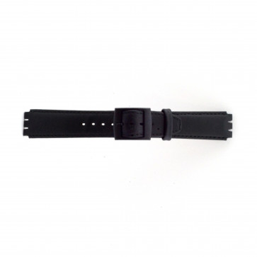 Uhrenarmband Swatch SC11.01 Leder Schwarz 17mm