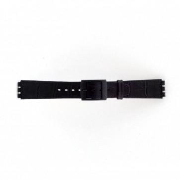 Uhrenarmband Swatch SC16.01 Leder Schwarz 16mm