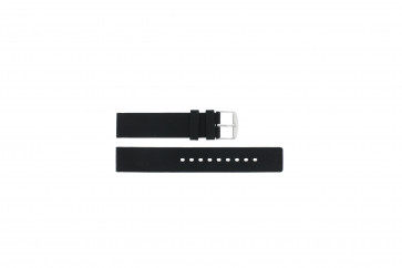 Uhrenarmband Universal 21901.01.18 / 6826 Silikon Schwarz 18mm