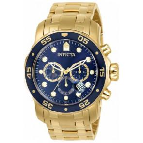 Uhrenarmband Invicta 0073 / 0072 / 0074 / 0075 / 80064 / 80065 / 80068 / 80069 Stahl Vergoldet