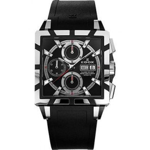 Uhrenarmband Edox 348349-01105 / 222193 Kautschuk Schwarz 27mm