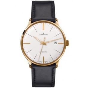 Uhrenarmband Junghans 42050-6249 / 027/7312 Leder Schwarz 20mm