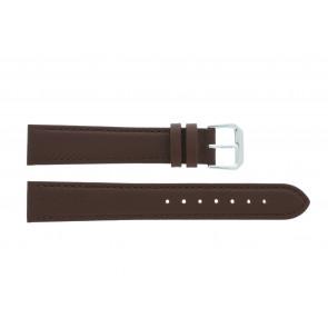 Uhrenarmband 054.L02 XL Leder Braun 14mm + standardnähte