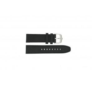 Swiss Military Hanowa Uhrenarmband 06-4224.04.007 Leder Schwarz 22mm + schwarzen nähte