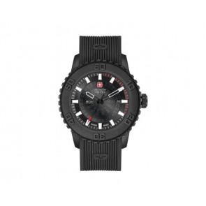 Uhrenarmband Swiss Military Hanowa 6-4281.27.007 Twilight Silikon Schwarz
