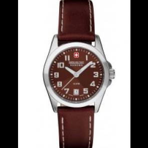 Uhrenarmband Swiss Military Hanowa 06-6030.04.005.05 / 6-6030 Leder Braun 15mm