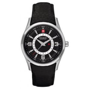 Uhrenarmband Swiss Military Hanowa 06-6155.04.007 Leder Schwarz