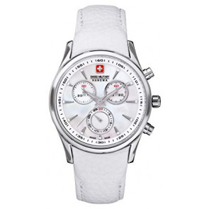 Uhrenarmband Swiss Military Hanowa 06.6156.04.001-87 Leder Weiss