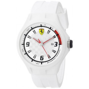 Ferrari Uhrenarmband SF101.1 / 0830003 / SF689309000 / Scuderia Kautschuk Weiss 22mm