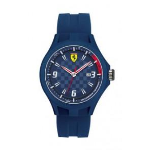 Uhrenarmband Ferrari SF101.4 / 0830067 / SF689300097 Kautschuk Blau 22mm