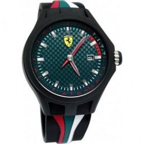 Ferrari Uhrenarmband SF101.5 / 0830070 / SF689300050 Kautschuk Schwarz 22mm