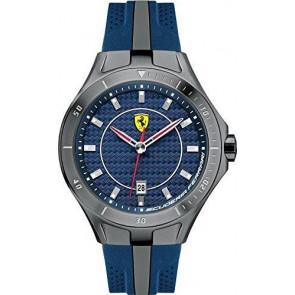 Ferrari Uhrenarmband SF103.7 / 0830081 / SF689300057 / Scuderia Kautschuk Blau 22mm