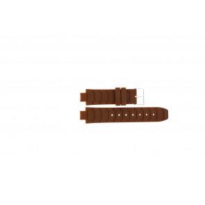 Jacques Lemans Uhrenarmband 1-1696 / BK-2892 Silikon Braun 12mm