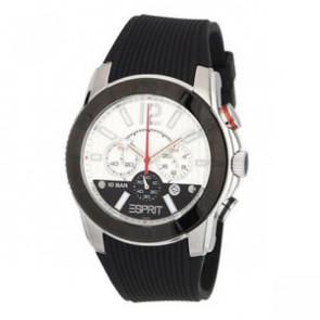 Esprit Uhrenarmband ES101681006 Kautschuk Schwarz 22mm