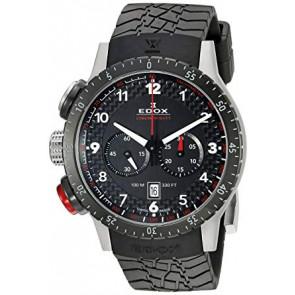 Uhrenarmband Edox 10305 Kautschuk Schwarz 23mm
