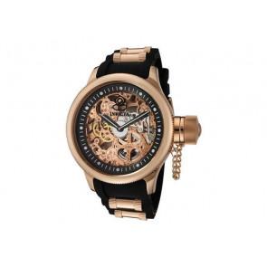 Uhrenarmband Invicta 1090.01 / 10136.01 / 17267.01 Kautschuk Schwarz