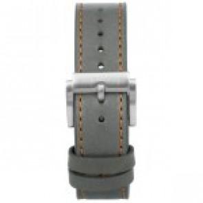 Uhrenarmband Prisma 1591 Leder Grau 22mm