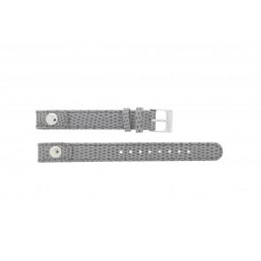 Lacoste Uhrenarmband 2000385 / LC-05-3-14-0009 / GR Leder Grau 12mm + grauen nähte