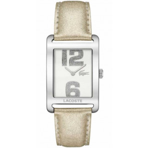 Uhrenarmband Lacoste 2000674 / LC-51-3-14-2261 Leder Beige 20mm