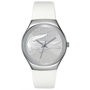 Lacoste Uhrenarmband 2000785 / LC-71-3-14-2444 Silikon Weiss 18mm