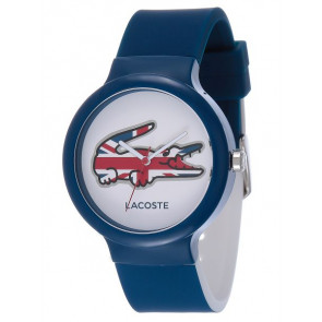 Lacoste Uhrenarmband LC-46-4-47-2502 / 2020072 / 20mm Kautschuk Blau 14mm